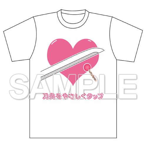 『天華百剣 -斬-』刀身をやさしくタップ Tシャツ M