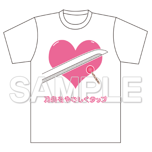 『天華百剣 -斬-』刀身をやさしくタップ Tシャツ L