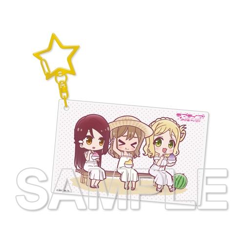 『ラブライブ!サンシャイン!!』アクリルキーホルダー Aqours 梨子&花丸&鞠莉[10]
