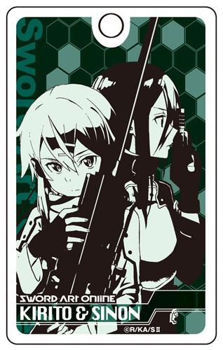 『ソードアート・オンラインII』(アニメ版)アクリルパスケース キリト&シノン