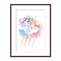 『Angel Beats!』天使&『リトルバスターズ!』クド Na-Ga直筆サイン入り複製原画