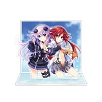 電撃PlayStation表紙イメージアクリルジオラマ ネプテューヌ&天王星うずめVer.