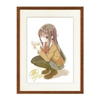 『青春ブタ野郎』シリーズ 著者&イラストレーター箔押しサイン入り複製原画2019