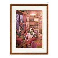 井上淳哉氏サイン入り『エスプレイドΨ』描き下ろしイラスト「いろりの部屋」複製原画